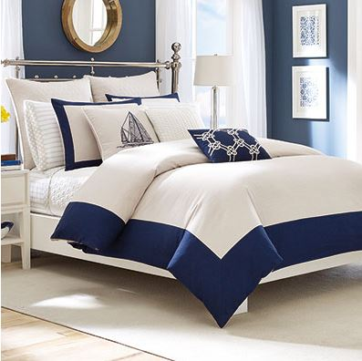 nautical navy blue and white comforter