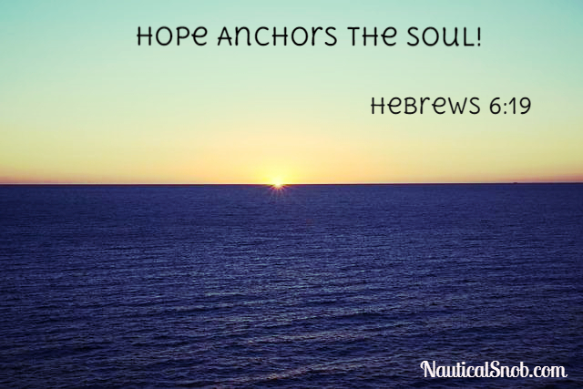 nautical quotes - hope anchors the soul