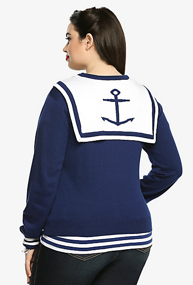 Plus Size Anchor Cardigan - Nautical Snob