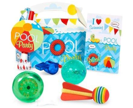 pool party favor boxes