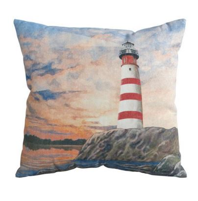 indoor/outdoor lighthouse pillow