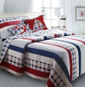 nautical striped quilt on sale