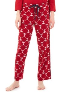 anchor print pajamas