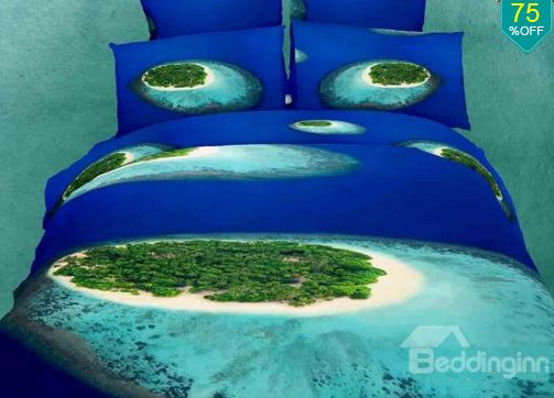tropical islands bedding