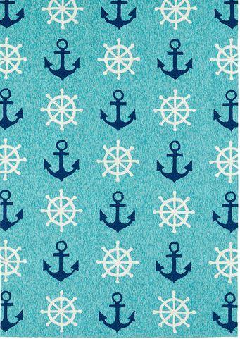 ships wheel rug