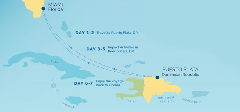 fathom cruise itinerary to the dominican republic