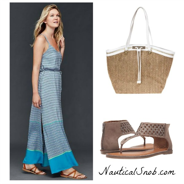 printed beach maxi dress