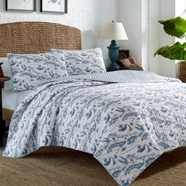 tommy bahama caribbean map quilt