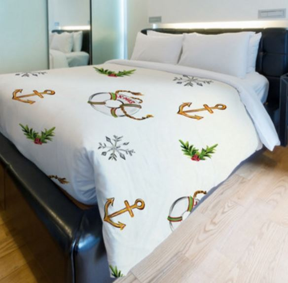 nautical christmas bedding