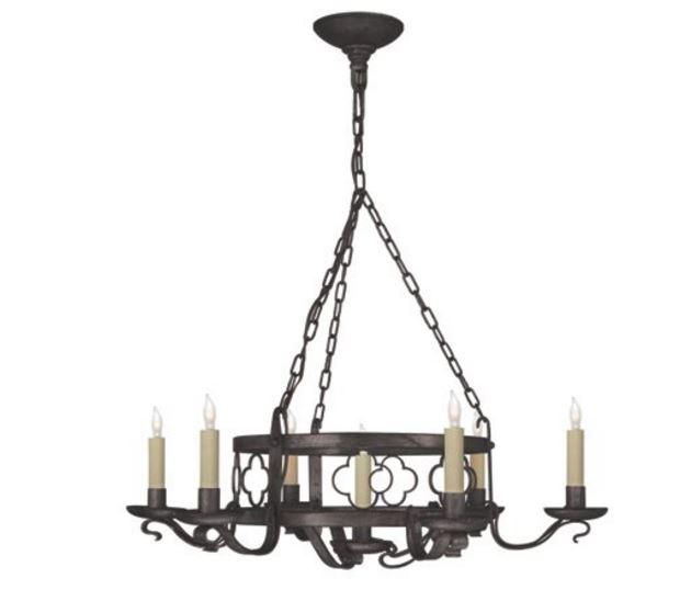 aged iron candle light