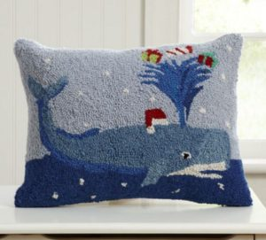 nautical christmas pillows