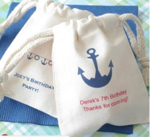 personalized nautical birthday favor bags