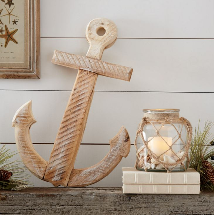 large wooden anchor decor